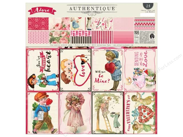 Authentique 12 x 12 in. Paper Pad Adore Collection