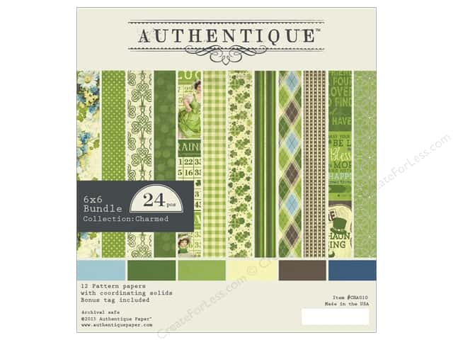 Authentique 6 x 6 in. Paper Bundle Charmed Collection