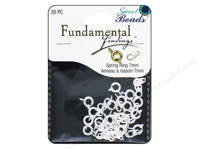 Sweet Beads Fundamental Finding Spring Ring Clasp 5/16 in. Silver 20 pc.