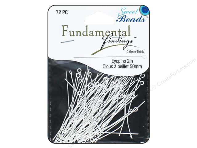 Sweet Beads Fundamental Finding Eyepins 50 x 0.6 mm 72 pc. Silver