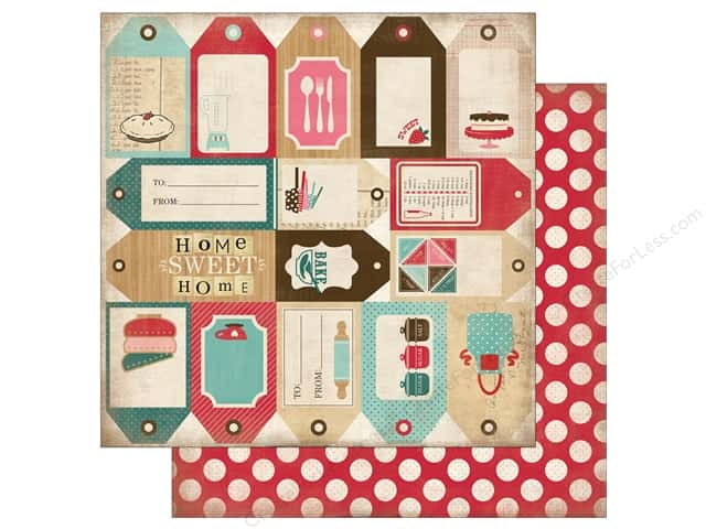 Carta Bella 12 x 12 in. Paper Home Sweet Home Baking Tags (25 sheets)