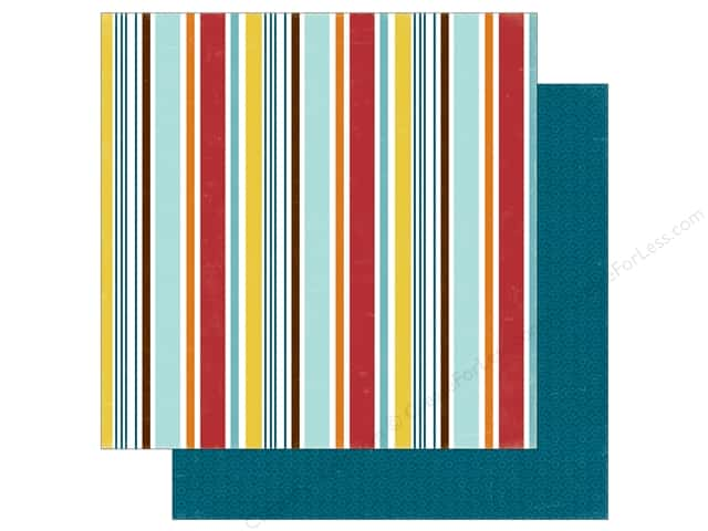 Echo Park 12 x 12 in. Paper Bark Collection Puppy Stripe (25 sheets)
