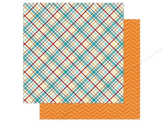 Echo Park 12 x 12 in. Paper Bark Collection Puppy Plaid (25 sheets)