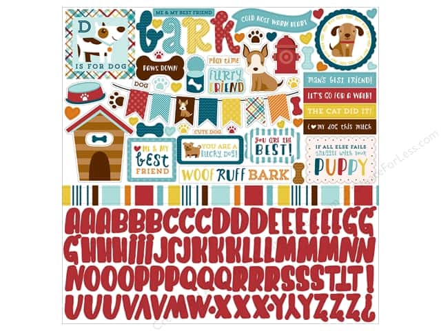 Echo Park Sticker 12 x 12 in. Bark Collection Element (15 sheets)