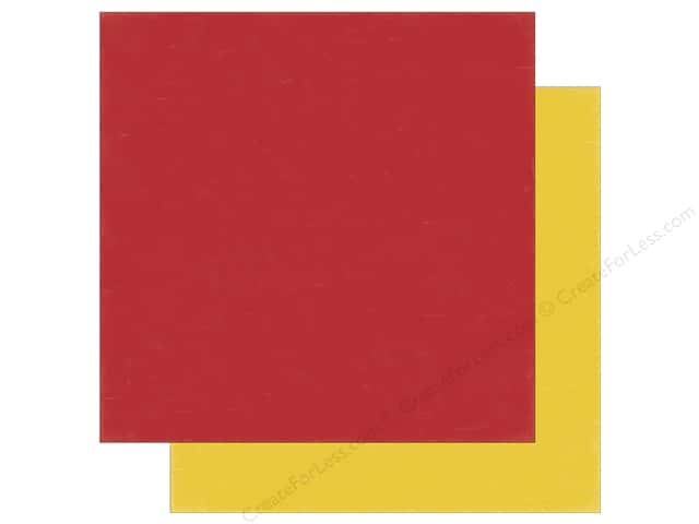 Echo Park 12 x 12 in. Paper Bark Collection Red/Yellow (25 sheets)