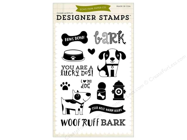 Echo Park Designer Stamp Bark Collection Lucky Dog