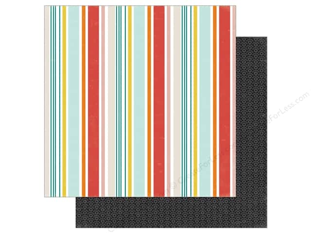 Echo Park 12 x 12 in. Paper Meow Collection Kitty Stripe (25 sheets)
