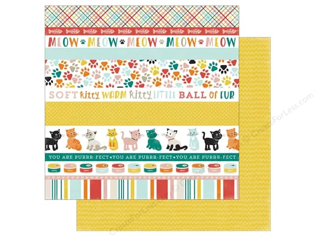 Echo Park 12 x 12 in. Paper Meow Collection Cat Border Strips (25 sheets)