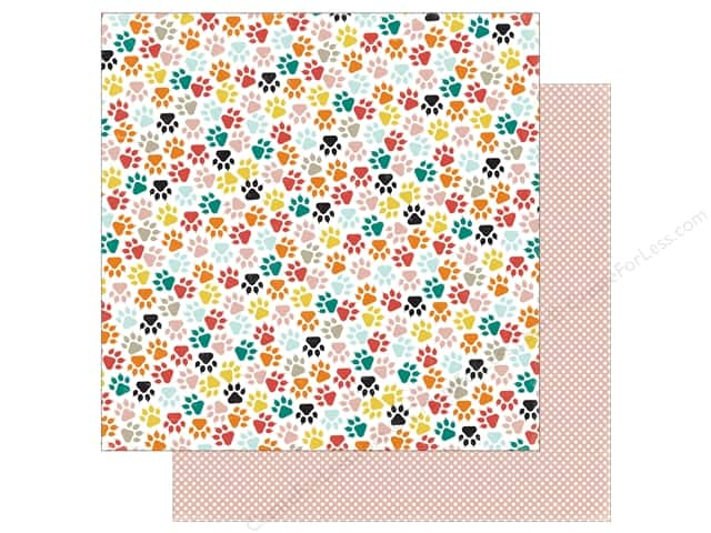 Echo Park 12 x 12 in. Paper Meow Collection Kitty Paws (25 sheets)