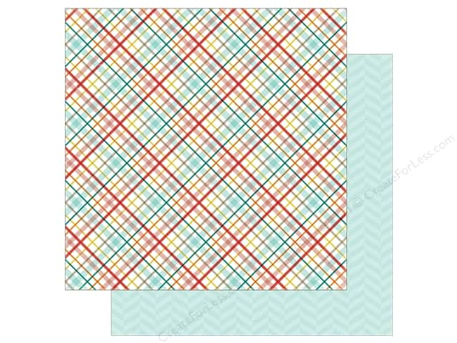 Echo Park 12 x 12 in. Paper Meow Collection Kitty Plaid (25 sheets)