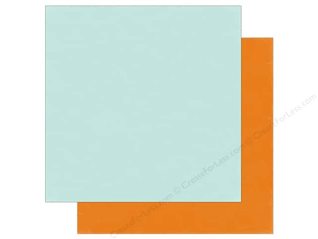Echo Park 12 x 12 in. Paper Meow Collection Light Blue/Orange (25 sheets)
