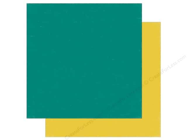 Echo Park 12 x 12 in. Paper Meow Collection Teal/Yellow (25 sheets)