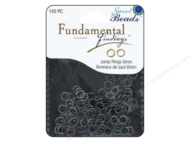 Sweet Beads Fundamental Finding Jump Rings 6 mm Antique Silver 142 pc.