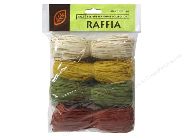 JMS Raffia Harvest Collection 4 Color Total 4oz