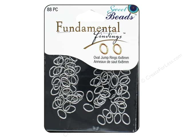 Sweet Beads Fundamental Finding Oval Jump Rings 8 x 6 mm Antique Silver 88 pc.