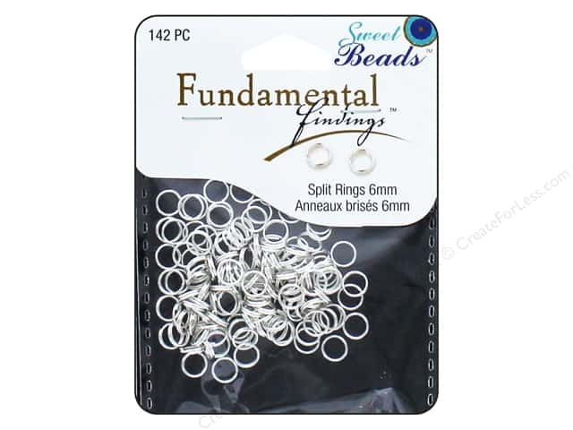 Sweet Beads Fundamental Finding Spring Ring Clasp 1/4 in. Silver 142 pc.