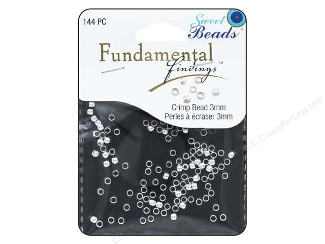 Sweet Beads Fundamental Finding Crimp Beads 3 mm 144 pc. Silver