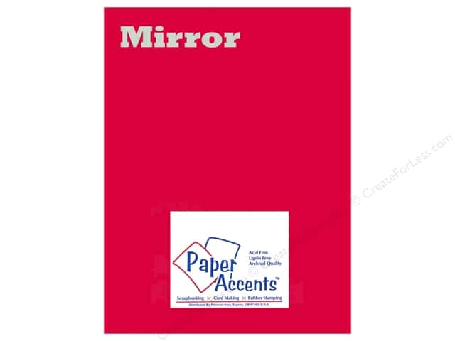 Cardstock 8 1/2 x 11 in. Mirror Red by Paper Accents 5 pc.