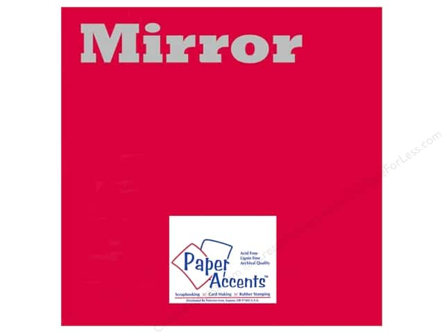 Cardstock 12 x 12 in. Mirror Red by Paper Accents (25 sheets)