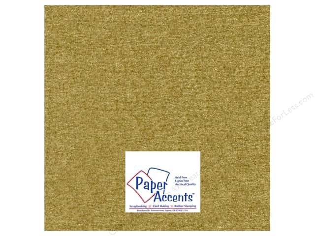 Paper Accents Pearlized Paper 12 x 12 in. #881 Gold Leaf 5 pc.