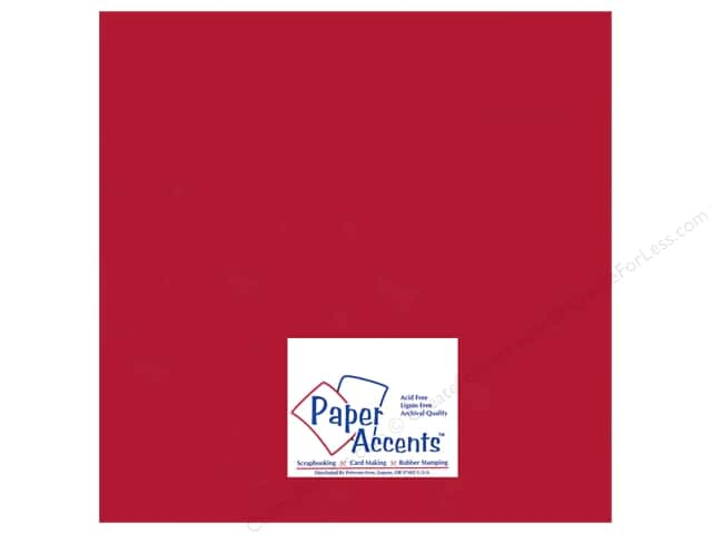 Paper Accents Pearlized Paper 12 x 12 in. #882 Dark Red 5 pc.