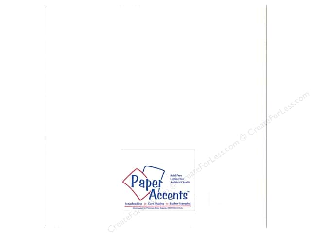 Paper Accents Pearlized Paper 12 x 12 in. #894 White 5 pc.