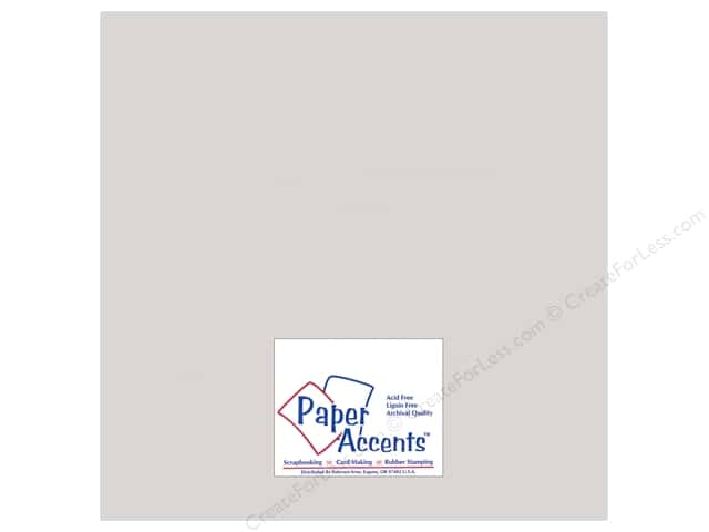 Paper Accents Pearlized Paper 12 x 12 in. #895 Silver (25 sheets)