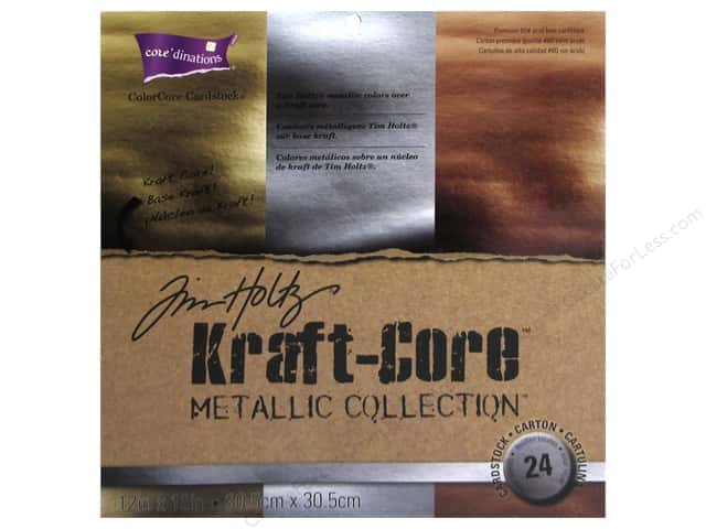 Coredinations Cardstock Pack 12 x 12 in. Tim Holtz Kraft-Core Metallic