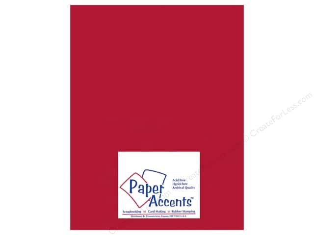 Pearlized Paper 8 1/2 x 11 in. #882 Dark Red by Paper Accents (25 sheets)