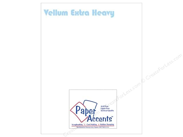 Vellum 8 1/2 x 11 in. #960 Extra Heavy Weight White by Paper Accents (25 sheets)