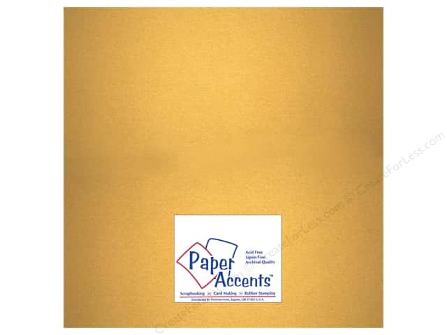Pearlized Paper 12 x 12 in. #877 Gold by Paper Accents (25 sheets)