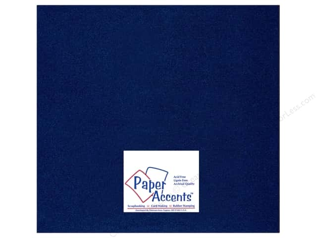 Pearlized Paper 12 x 12 in. #878 Lapis by Paper Accents (25 sheets)