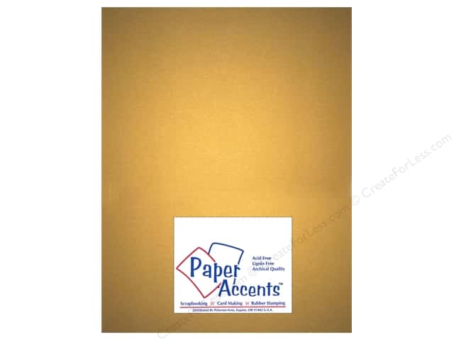 Paper Accents Pearlized Paper 8 1/2 x 11 in. #877 Gold (25 sheets)