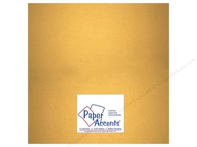 Paper Accents Cardstock 12 x 12 in. #877C Pearlized Gold (25 sheets)