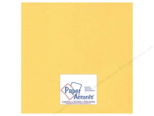 Cardstock 12 x 12 in. #885C Pearlized 22 kt Gold by Paper Accents (25 sheets)