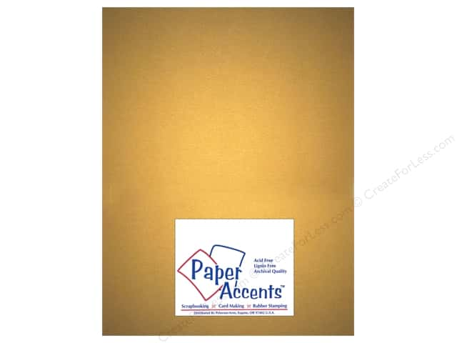 Paper Accents Cardstock 8 1/2 x 11 in. #877C Pearlized Gold by Paper Accents (25 sheets)