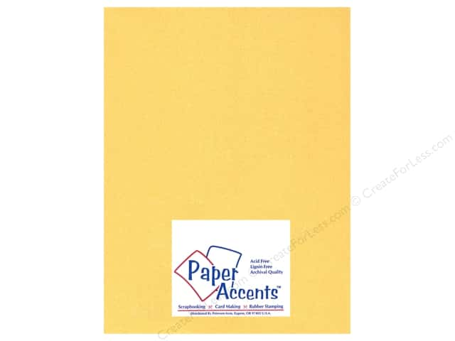 Cardstock 8 1/2 x 11 in. #885C Pearlized 22 kt Gold by Paper Accents (25 sheets)