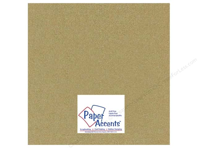 Paper Accents Cardstock 12 x 12 in. #881C Pearlized Gold Leaf (25 sheets)