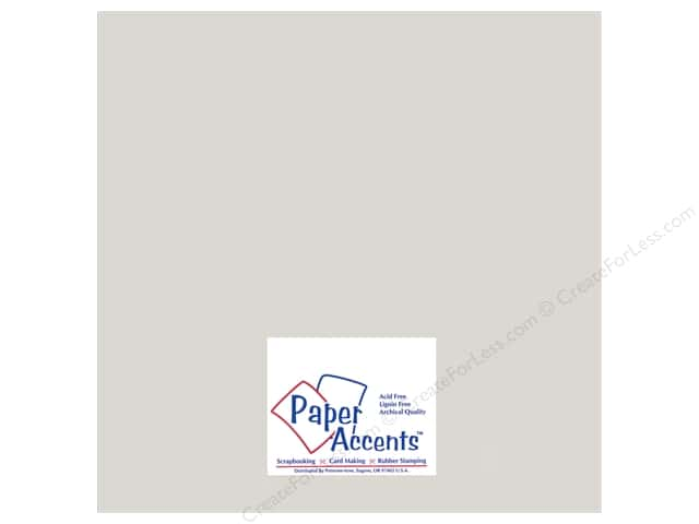 Cardstock 12 x 12 in. #895C Pearlized Silver by Paper Accents (25 sheets)