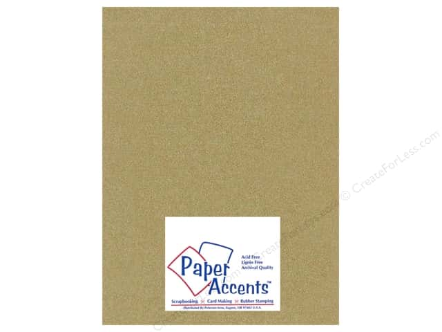 Cardstock 8 1/2 x 11 in. #881C Pearlized Gold Leaf by Paper Accents (25 sheets)