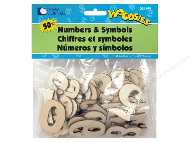 Forster Woodsies Numbers & Symbols 50pc