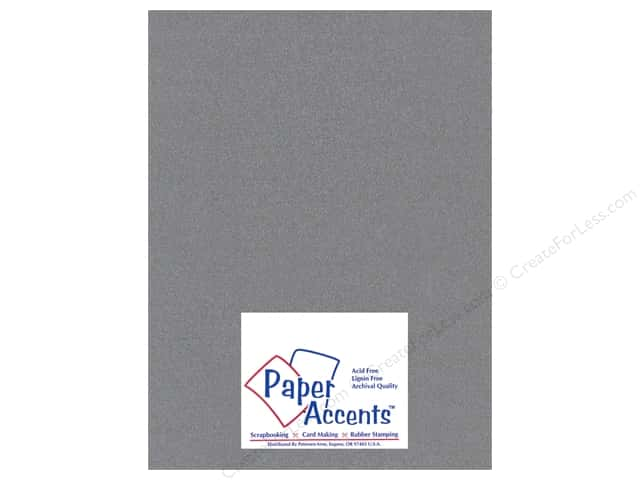 Cardstock 8 1/2 x 11 in. #898C Pearlized Graphite by Paper Accents (25 sheets)