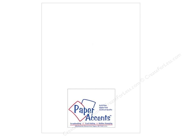 Paper Accents Chipboard 8 1/2 x 11 in. 46 pt. Extra Heavy White 5 pc.