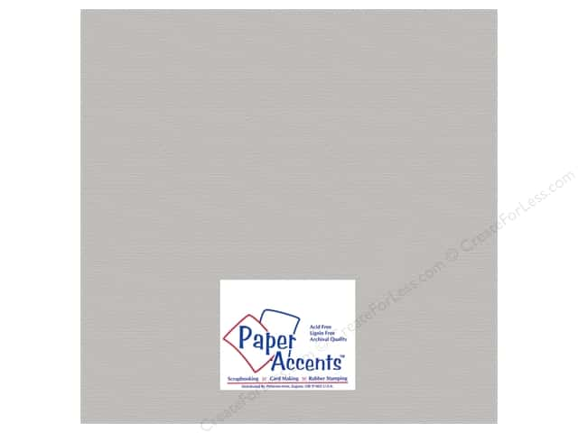 Paper Accents Cardstock 12 x 12 in. #824 Brushed Silver (25 sheets)