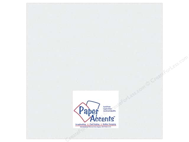 Paper Accents Pearlized Paper 12 x 12 in. #858 Ice Silver (25 sheets)