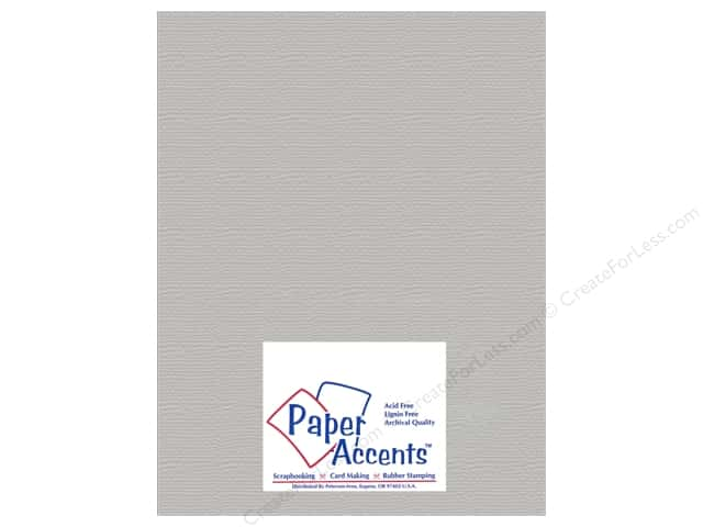 Cardstock 8 1/2 x 11 in. #824 Brushed Silver by Paper Accents (25 sheets)