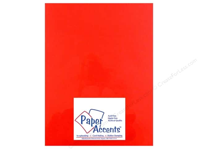 Vellum 8 1/2 x 11 in. #985 Garnet by Paper Accents (25 sheets)