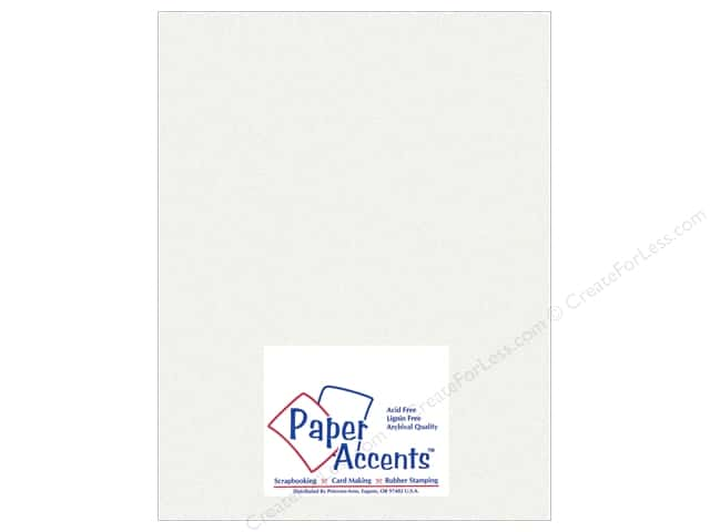 Paper Accents Pearlized Paper 8 1/2 x 11 in. #858 Ice Silve 5 pc.