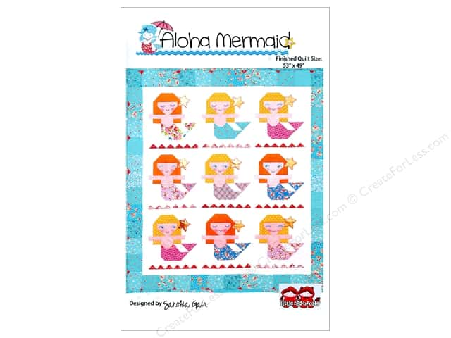 Red Brolly Aloha Mermaid Quilt Pattern