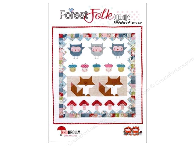 Red Brolly Forest Folk Quilt Pattern